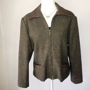 Braebrook Vintage Wool Zip Up Blazer Jacket 11/12